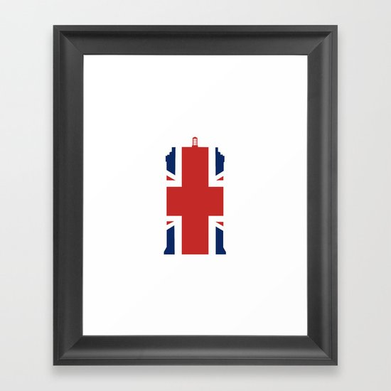 Great British Time Box Framed Art Print