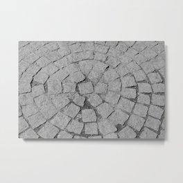 Old Stone Sidewalk Texture Metal Print