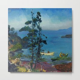 """George Wesley Bellows """"Evening Blue (Tending the Lobster Traps. Early morning)"""" Metal Print"""