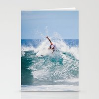 surfer Stationery Cards featuring Surfer by Carmen Moreno Photography