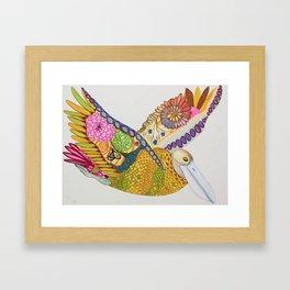 Rainbow Pelican Framed Art Print