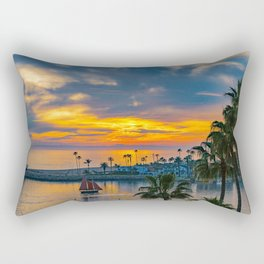Sunset Sails at the Wedge Rectangular Pillow