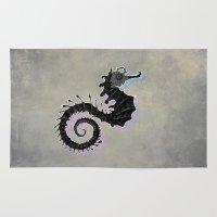 seahorse Area & Throw Rugs featuring Seahorse by Filip Radulescu