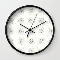 polka dot Wall Clocks featuring Polka Dot by Alisa Galitsyna