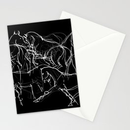 Horses (Movement on black) Stationery Cards