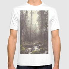 The paths we wander II Mens Fitted Tee MEDIUM White
