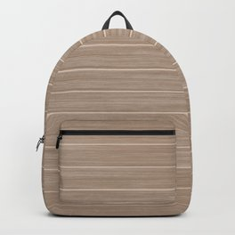 Light Hazelnut Brown  Weathered Whitewash Wooden Beach Hut Backpack