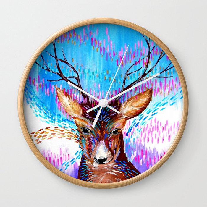 Fantasy Deer Wall Clock
