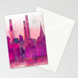 Manhatten Heating Station RED - SKETCH Stationery Cards