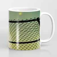 santa monica Mugs featuring Santa Monica by Nicole Dupee
