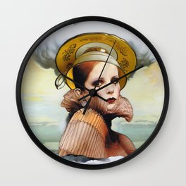 Teacup in a Storm Wall Clock