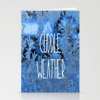 cuddle Stationery Cards featuring Cuddle Weather by ALLY COXON