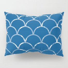 Textured large scallop pattern in snorkel blue Pillow Sham