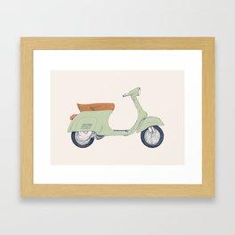 Italian Moto Framed Art Print