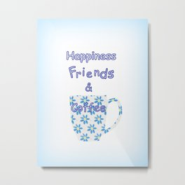Friends And Coffee Metal Print