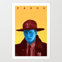 fargo Art Prints featuring Fargo by Drew Crowley