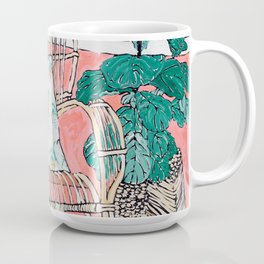 Cane Chair in Pink Interior Coffee Mug