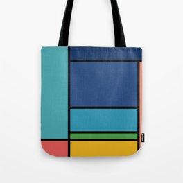 The Colors of / Mondrian Series - Ponyo- Miyazaki Tote Bag