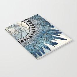 blue feather dreamcatcher Notebook