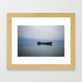 Coming into port Framed Art Print