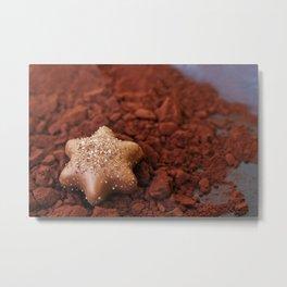 Chocolate Star and Cocoa Metal Print