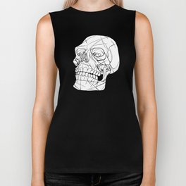 Skull Looking Left Biker Tank