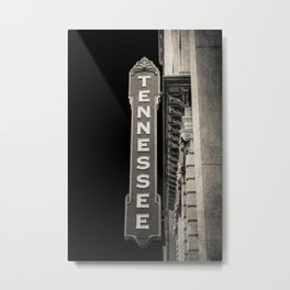 Tennessee Sign Metal Print