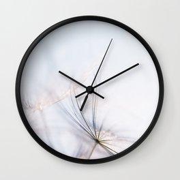 Macro dandelion Wall Clock