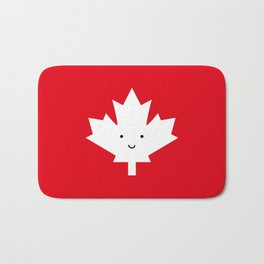 Happy Canada Day Maple Leaf Bath Mat
