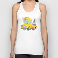 truck Tank Tops featuring tow truck by Alapapaju