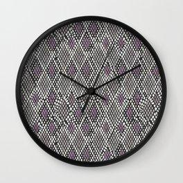 Grey and Purple Python Wall Clock