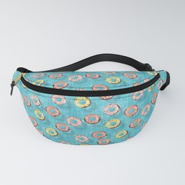 Chocolate Donut Floats in the Summer Pool Fanny Pack