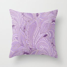 paisley purple Throw Pillow