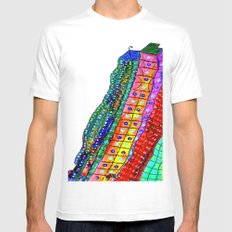Bright City White SMALL Mens Fitted Tee