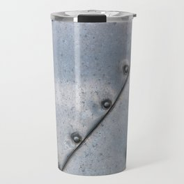 Grunge metal background or texture with scratches and cracks Travel Mug