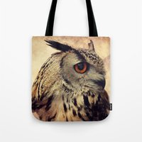 elmo Tote Bags featuring Elmo V by Astrid Ewing
