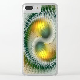 Like Yin and Yang, Abstract Fractal Art Clear iPhone Case