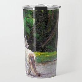 Cat Adventure by the Hydrangea &Trees Travel Mug