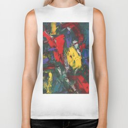 Abstracted Bull and Monkey Biker Tank