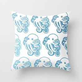ombre octopuses Throw Pillow