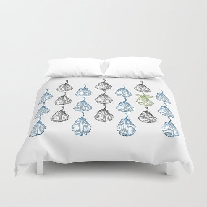 minimal pears pattern Duvet Cover