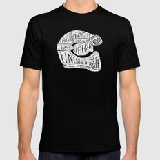 I have fought the good fight, I have finished the race.  MEDIUM Mens Fitted Tee Black