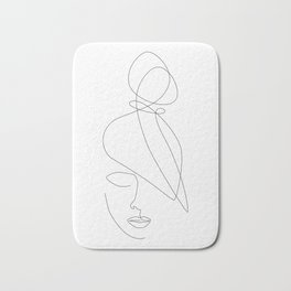 Hairstyle Lines Bath Mat