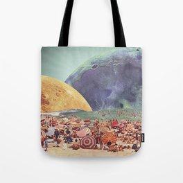 Lunar Beach Tote Bag