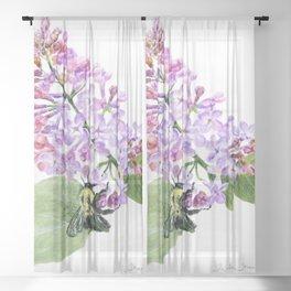 Lilac Love by Teresa Thompson Sheer Curtain