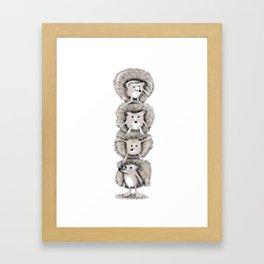 Hedgehog Totem Framed Art Print