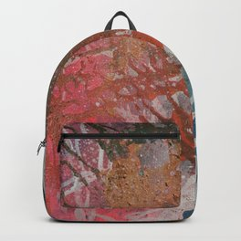 Abstract Pink Sky Golden Rain Backpack