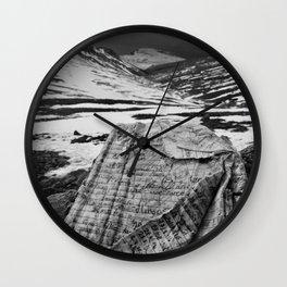 Wild Notebook Wall Clock