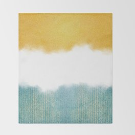 Teahupo'o, sea and sand Throw Blanket