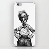 woody allen iPhone & iPod Skins featuring Woody Allen by MK-illustration